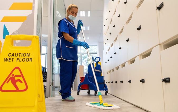 janitorial cleaning staff